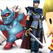 L to R: Takamaru (Murasame Castle), Devil (Devil World), Marth (Fire Emblem), and Lucas (EarthBound 2).