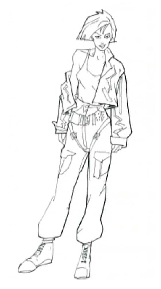 Ivy from Carmen Sandiego drawn by Bill Sienkiewicz