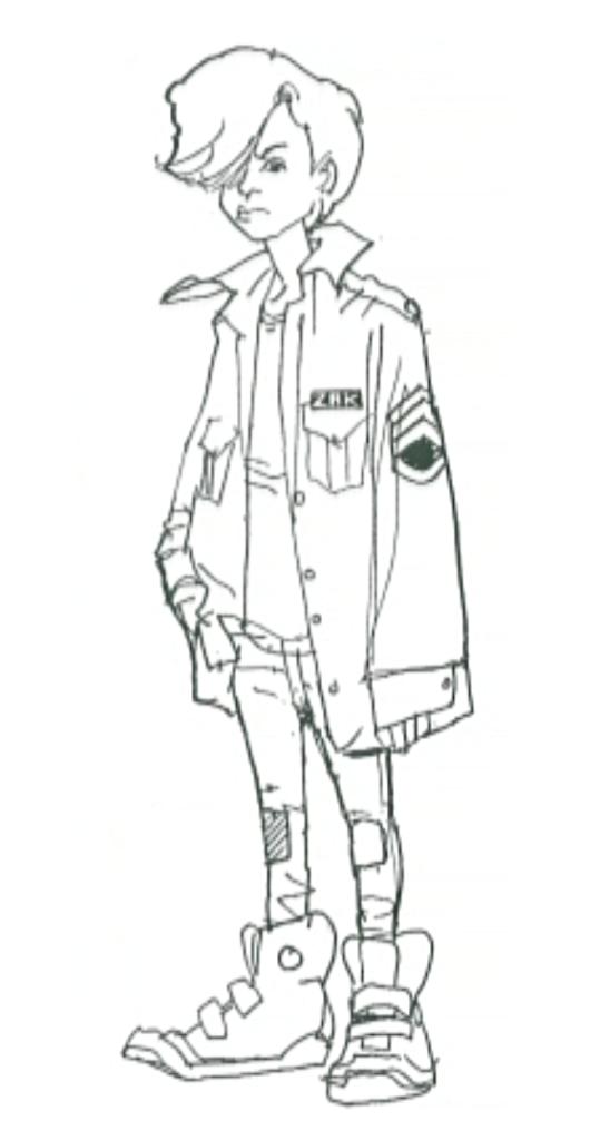 Zack from Carmen Sandiego drawn by Bill Sienkiewicz
