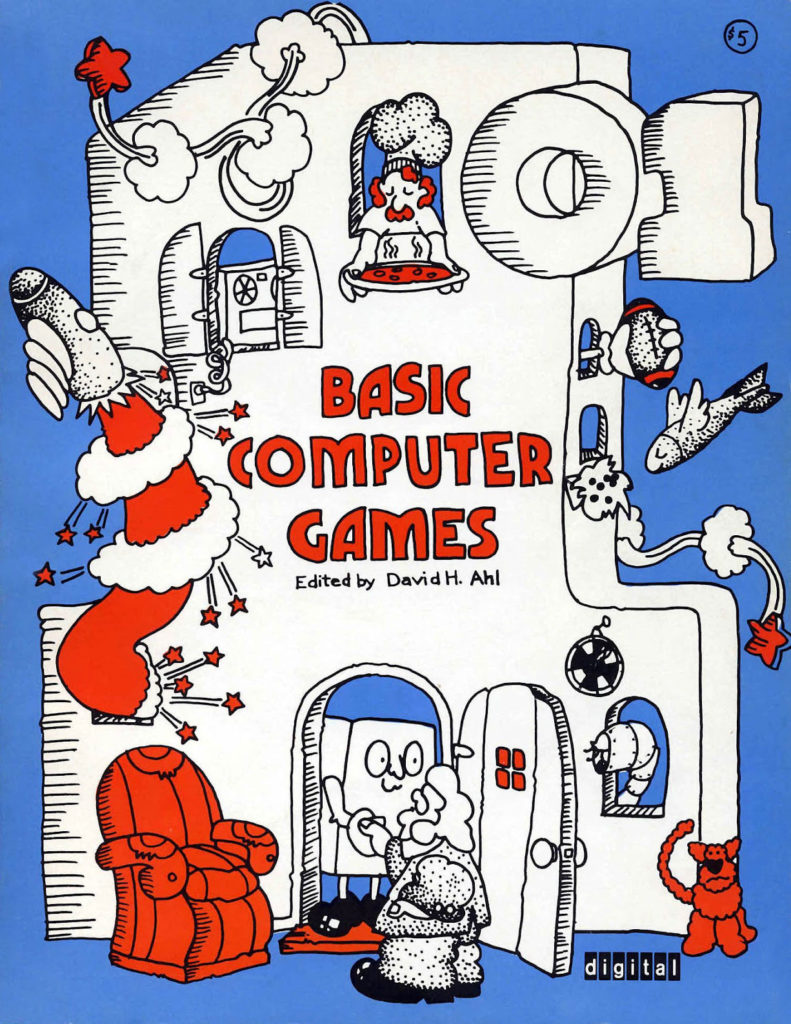 The cover of David H. Ahl's 101 Basic Computer Games (1973)