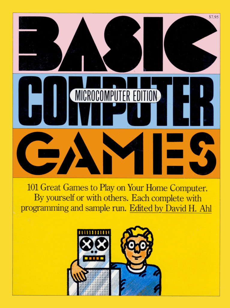 The cover of David H. Ahl's Basic Comptuer Games (1978)