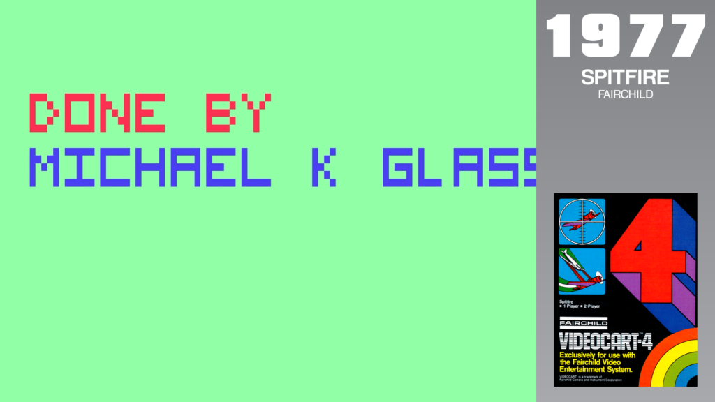 """A message on screen says """"Done By Michael K Glass."""""""