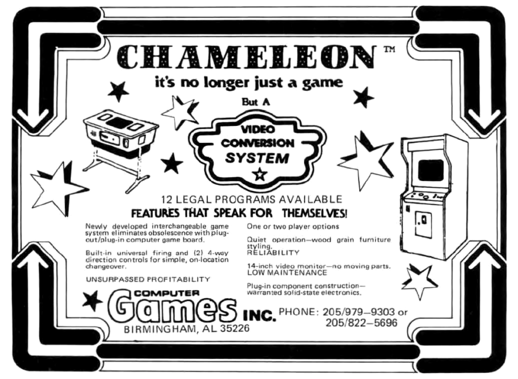 """An ad for """"Chameleon: it's no longer just a game, but a Video Conversion System."""""""
